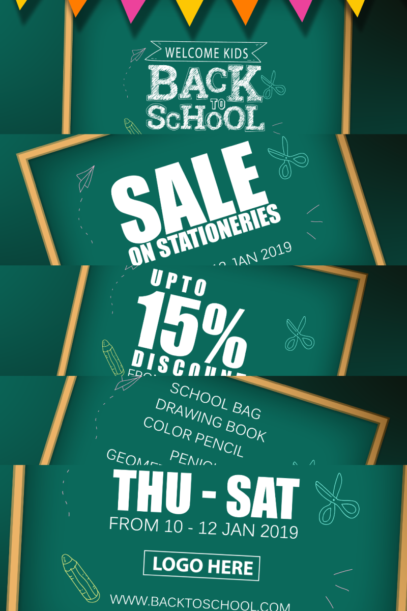 BACK TO SCHOOL PROMO After Effects Intro