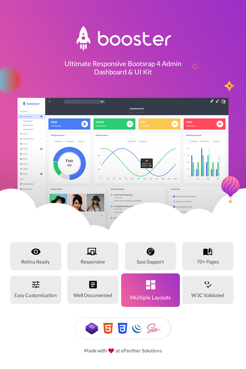 Booster - Bootstrap + Laravel Dashboard №76572