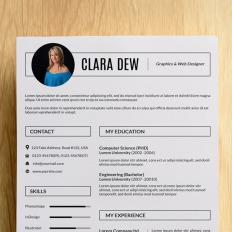 clara dew resume template 76545