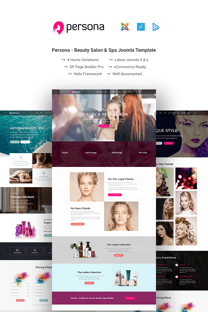 "Joomla Vorlage namens ""Persona- Beauty Salon & Spa"" #76508"