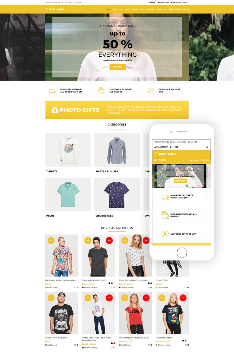 Responsywny szablon Shopify Best Look - T-Shirt Responsive #76560