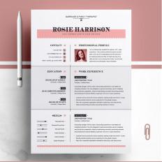 rose premium resume template