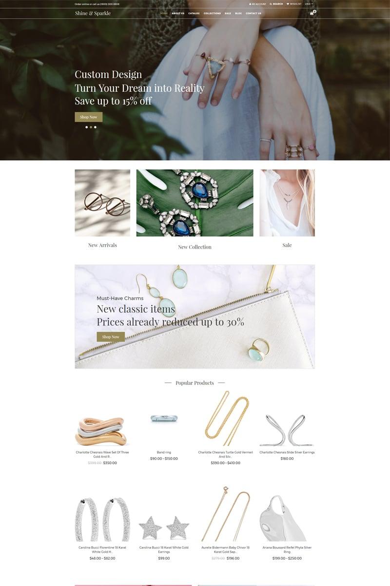Shine & Sparkle - Jewelry Clean Shopify Theme - screenshot