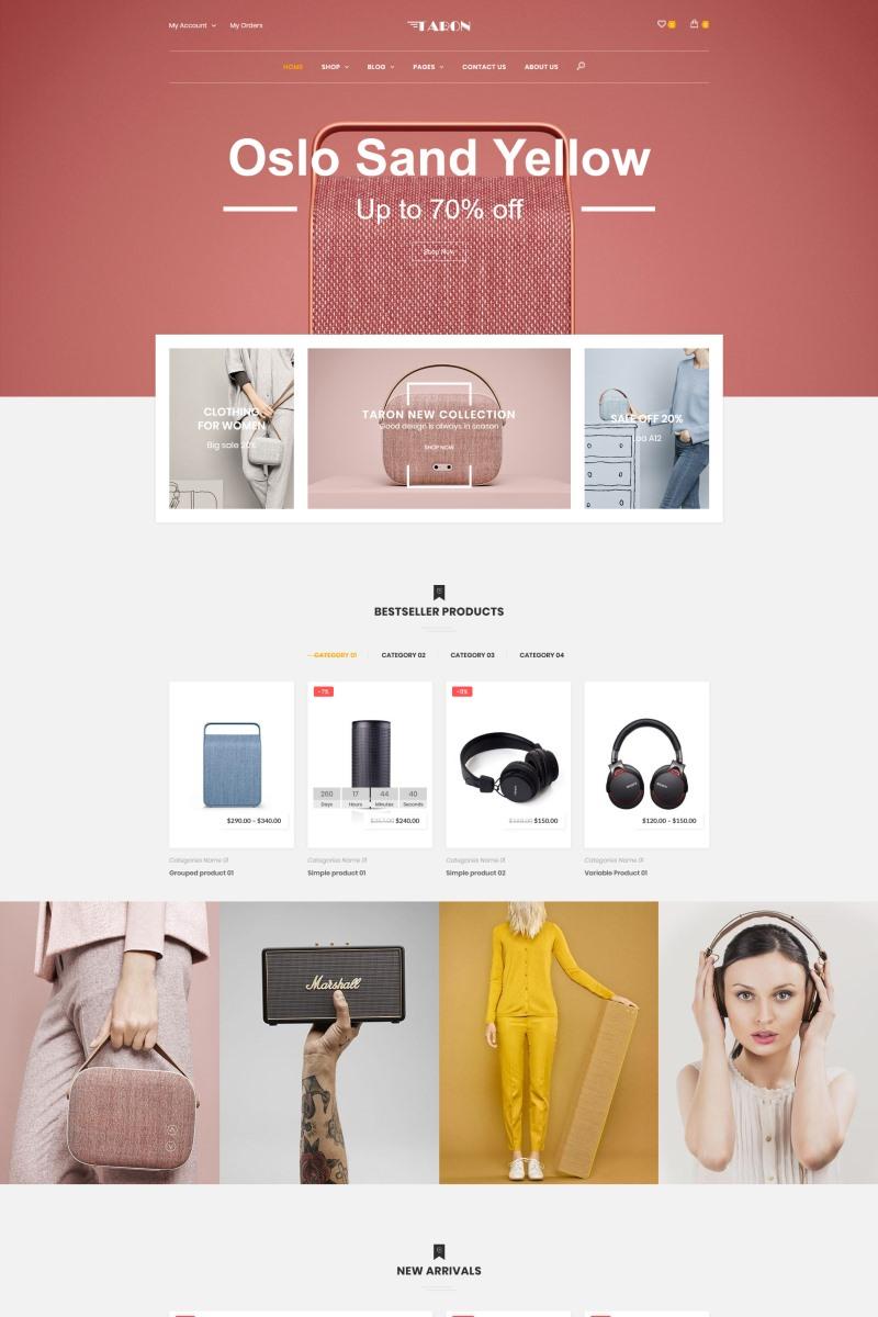 Taron - Multipurpose Tema WooCommerce №76536