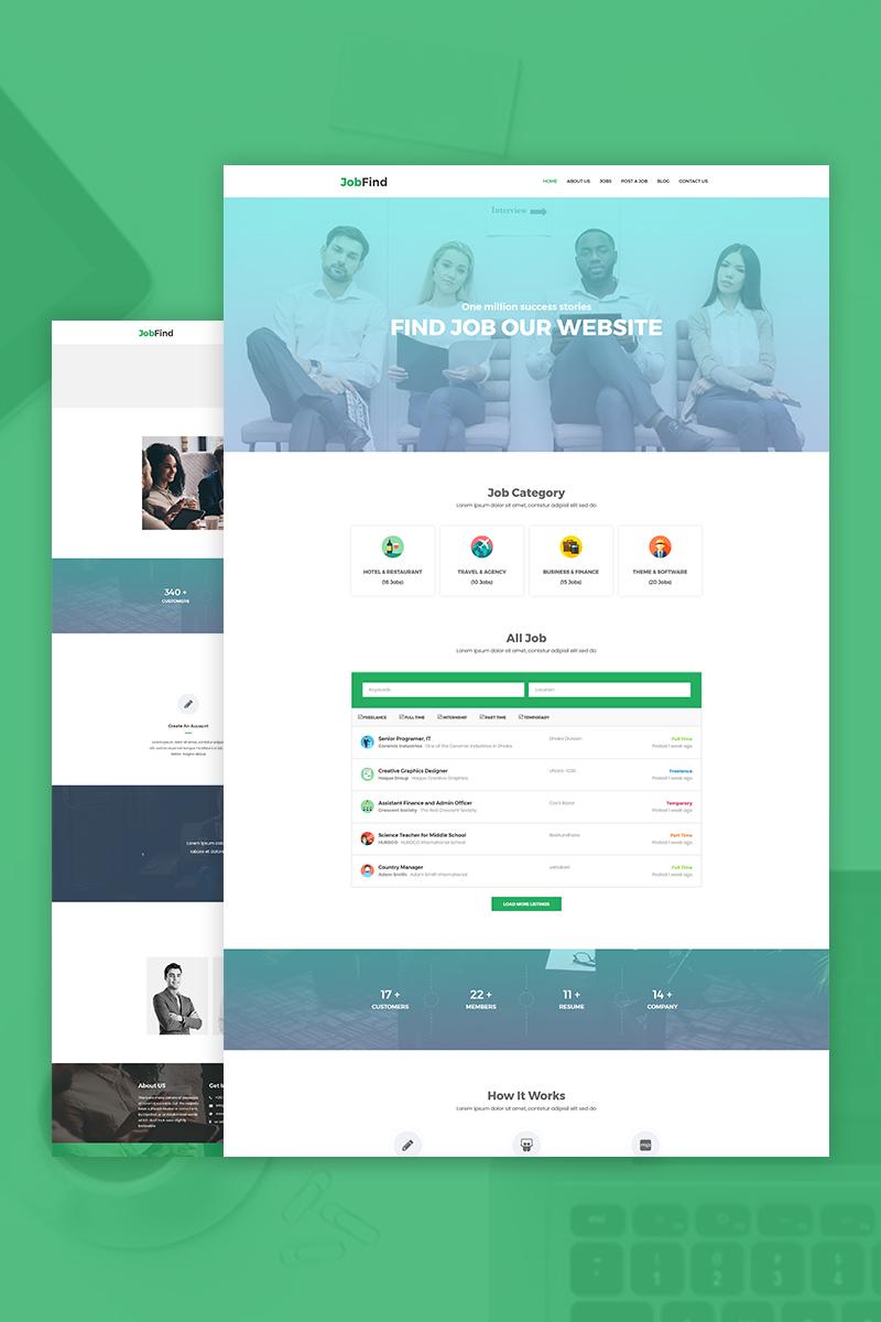 "Tema De WordPress ""JobFind - Job Board"" #76557"