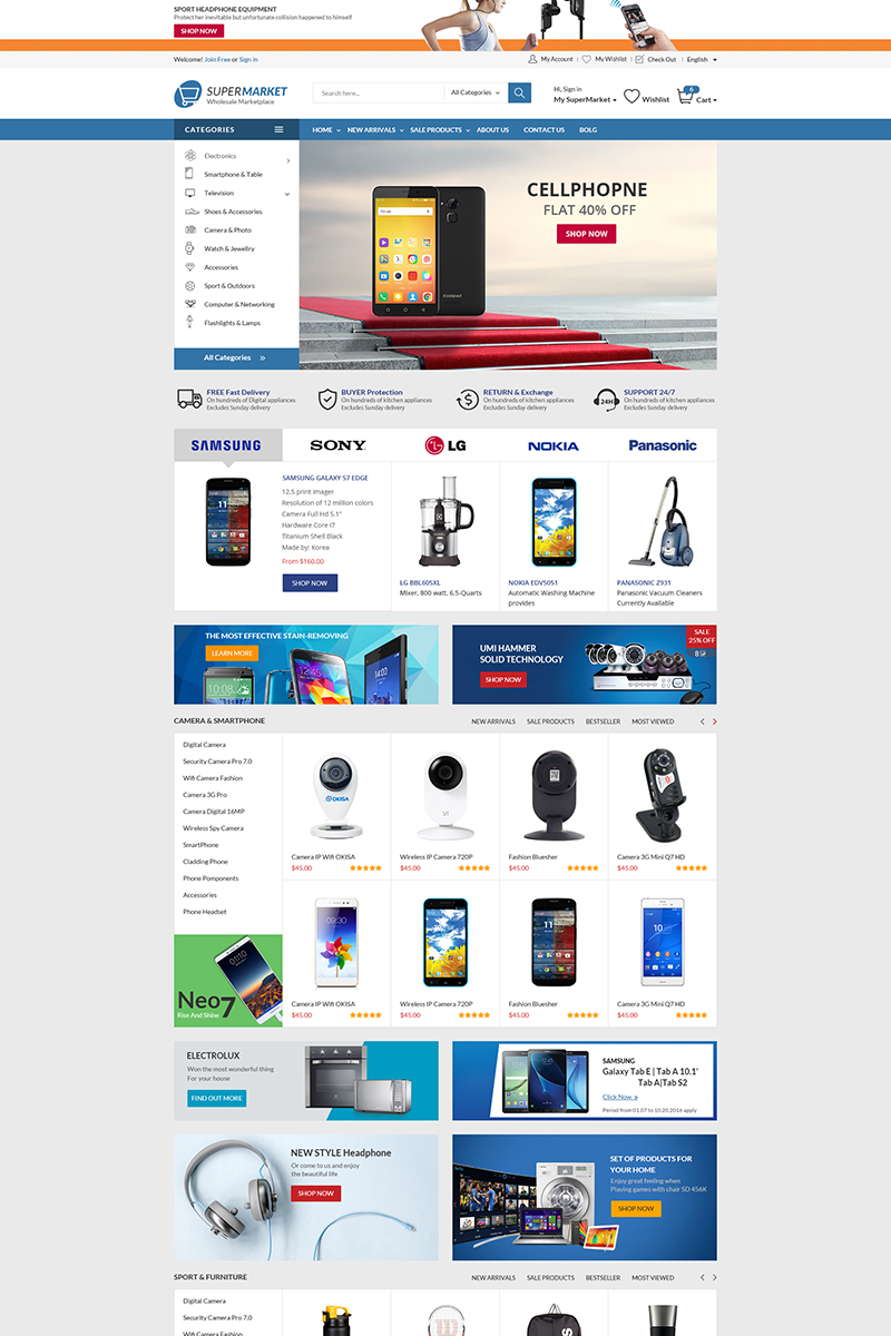 "Tema WooCommerce ""Supermarket - The Best Store"" #76531"