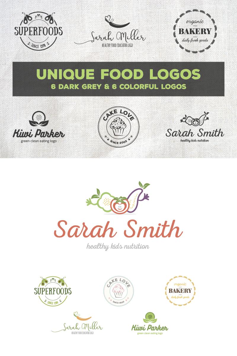 Unique Food Logos - Bundle Template de Logotipo №76591