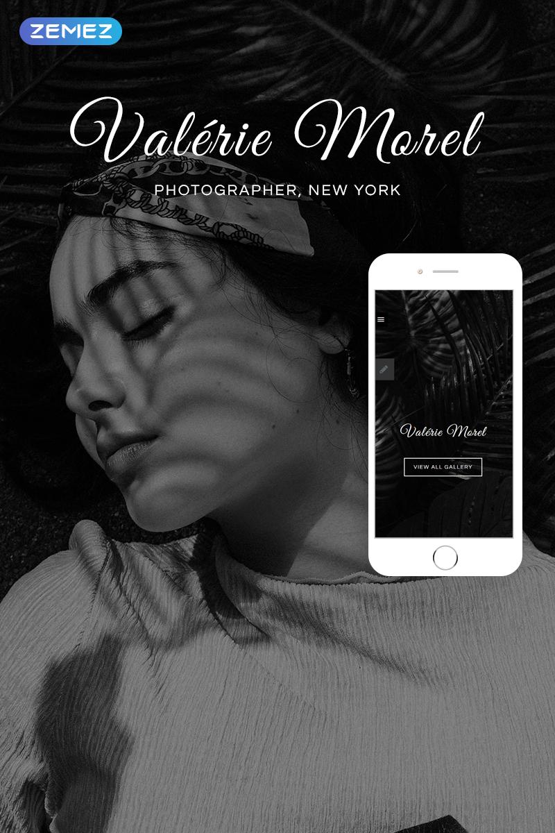 """Valerie Morel - Photography Elegant"" 响应式Joomla模板 #76529"