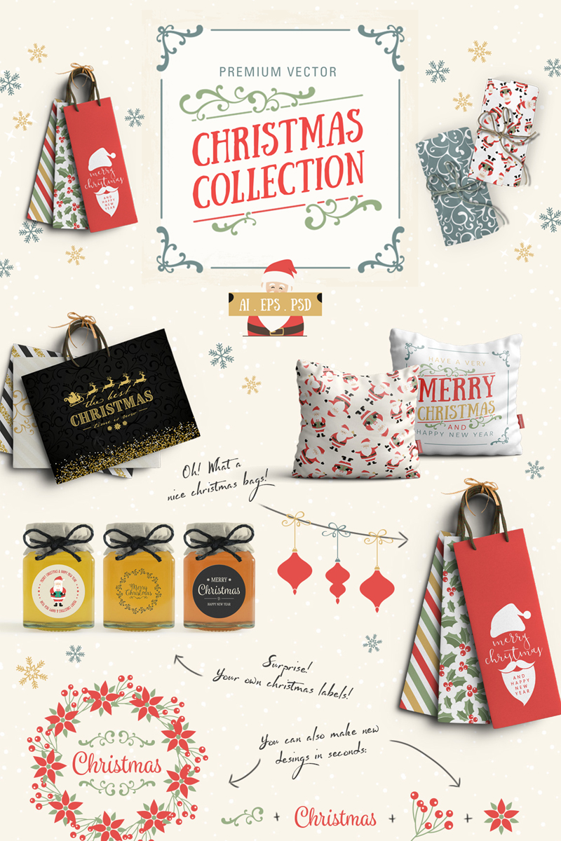 Vector Christmas Collection Illustration - screenshot