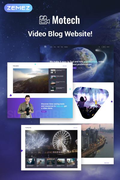 Адаптивный WordPress шаблон №76543 на тему видеооператор