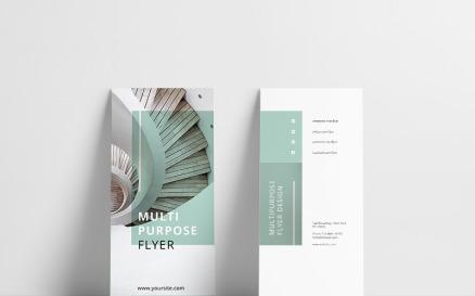 Mint Multipurpose Trifold Brochure Corporate Identity