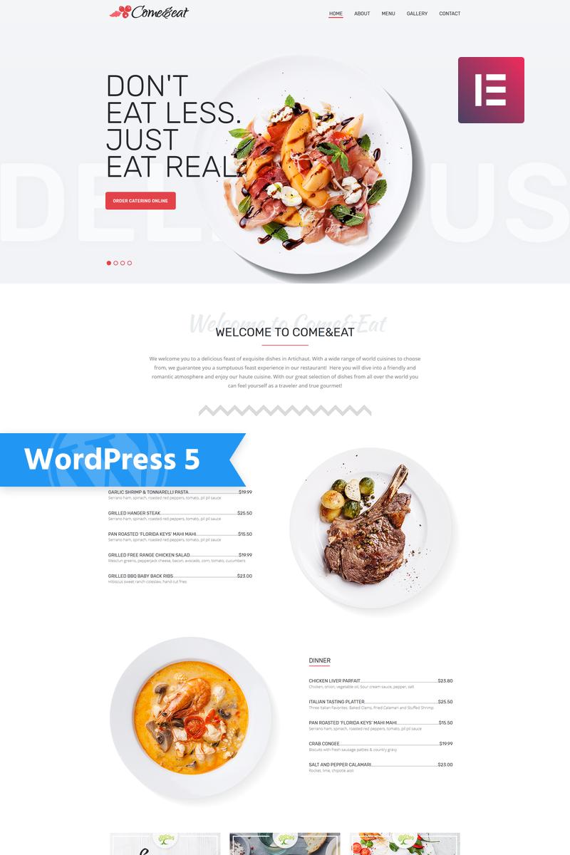 """Come&Eat - Restaurant Multipurpose Modern Elementor"" - адаптивний WordPress шаблон №76607"