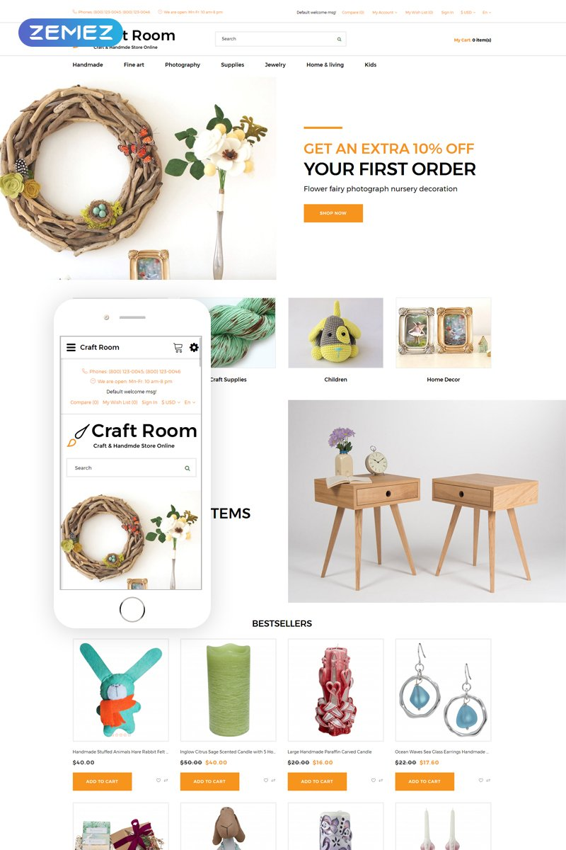 Craft Room - Handmade Responsive Stylish №76625 - скриншот