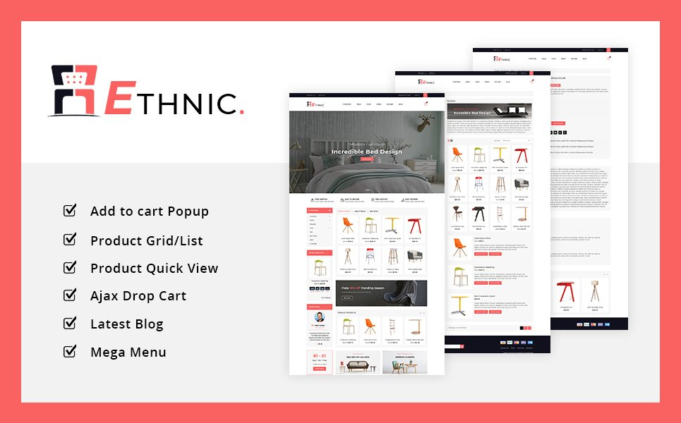 Ethnic Furniture Shop PrestaShop Theme