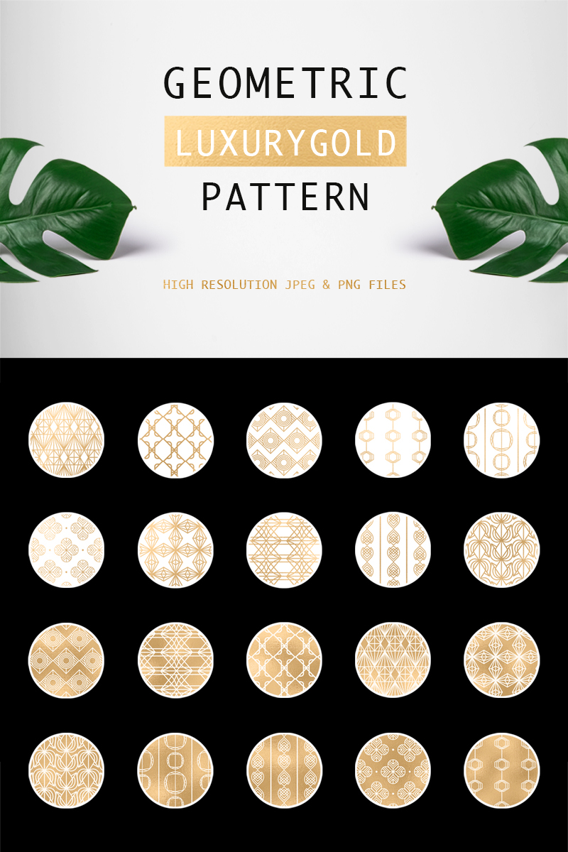 Geometric Luxurygold Pattern 76624