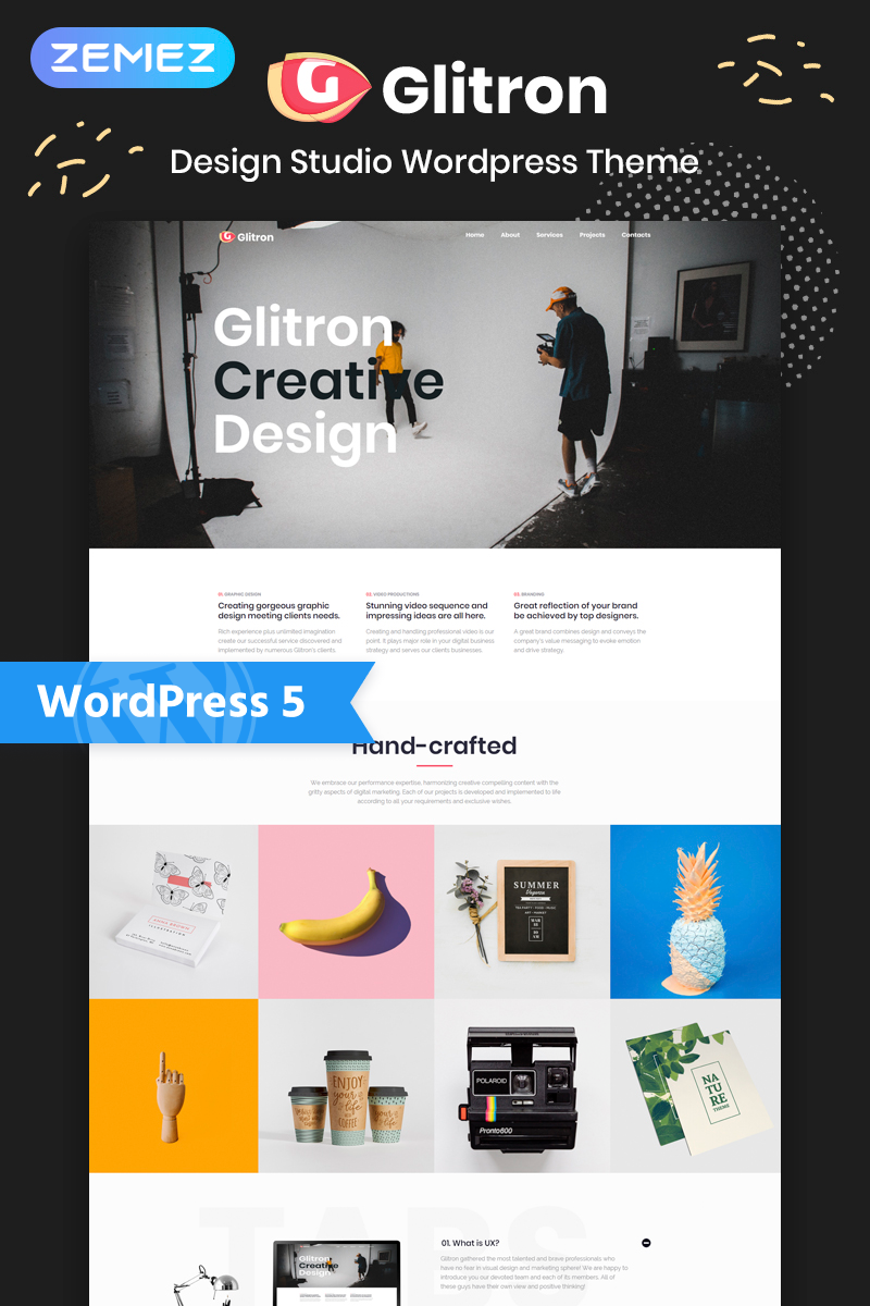Giltron - Design Studio Elementor WordPress Theme - screenshot