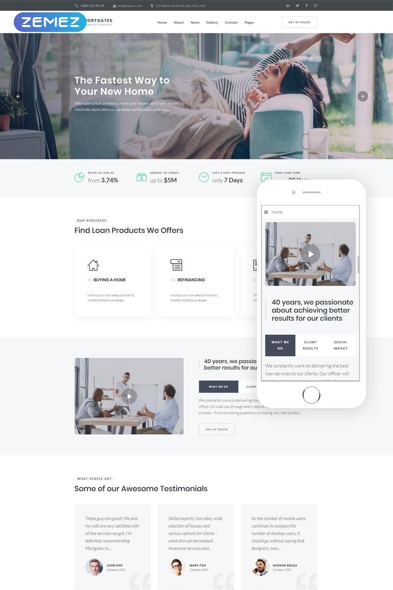 MortGates - Financial Services Modern Joomla Template - screenshot