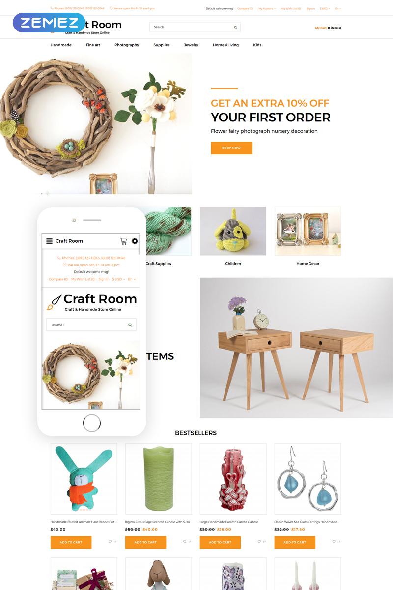 "OpenCart Vorlage namens ""Craft Room - Handmade Responsive Stylish"" #76625"