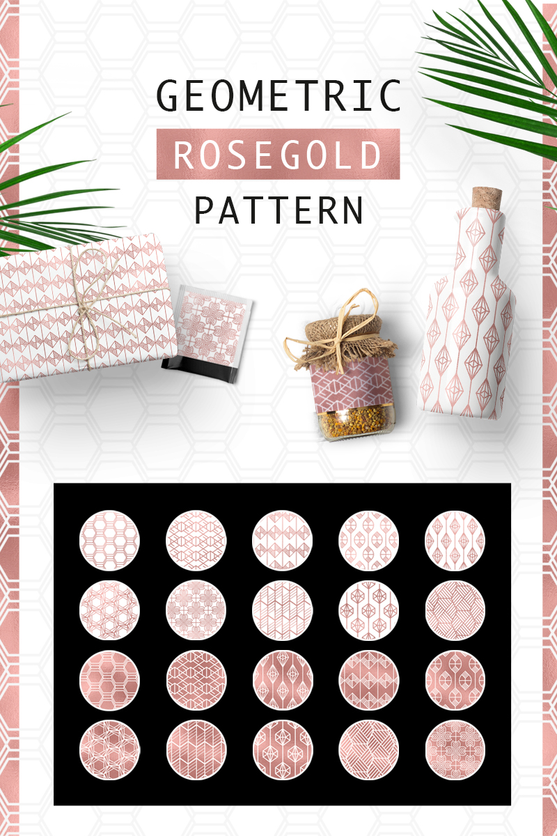 "Pattern namens ""Geometric Rosegold"" #76623"