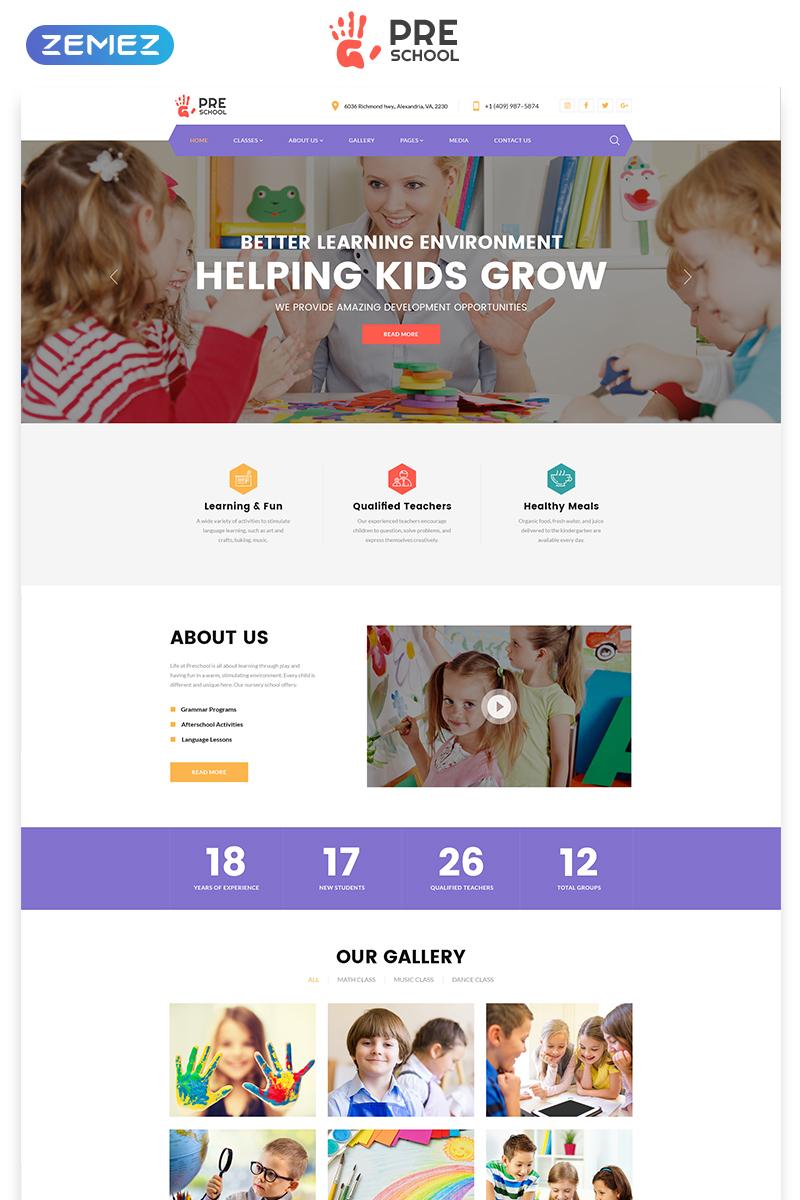 """Plantilla Web """"Preschool - Education Multipage Clean HTML"""" #76608 - captura de pantalla"""