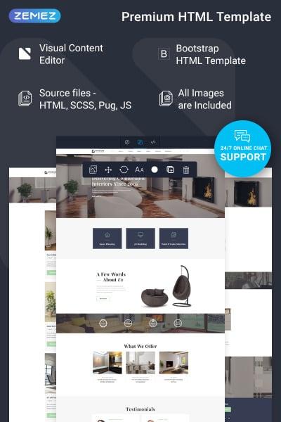 Interior Design Responsive Šablona Webových Stránek