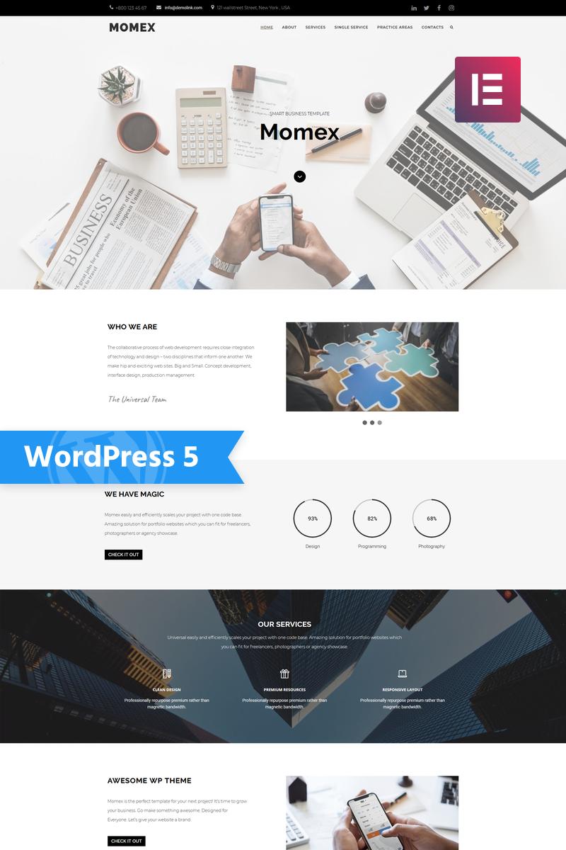 "Tema De WordPress ""Momex - Business Elementor"" #76676 - captura de pantalla"