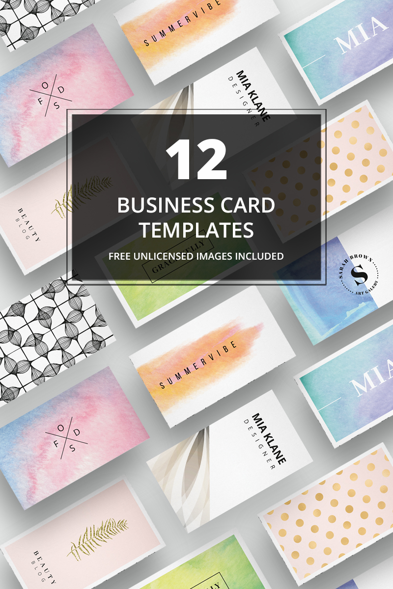 Business Card + images No. 2 Corporate Identity Template