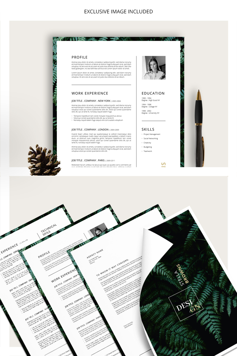 FERNS CV + Cover Letter Resume Template
