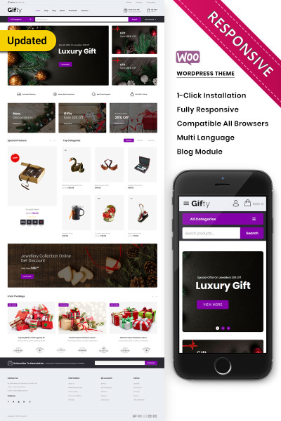 Gifty - The Gift Store Responsive