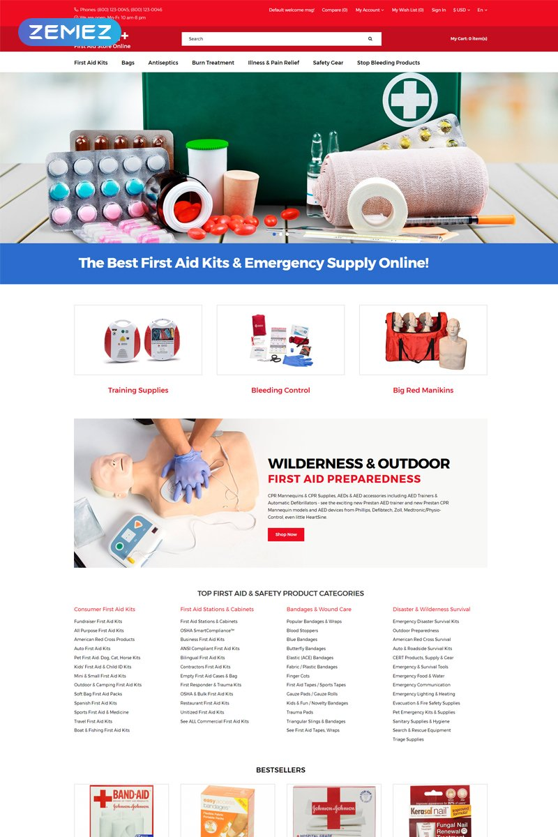 Health+ - First Aid Online Store Clean №76767 - скриншот