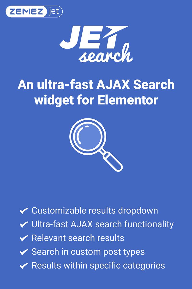 """JetSearch - An ultra-fast AJAX Search widget for Elementor"" - WordPress плагін №76744"