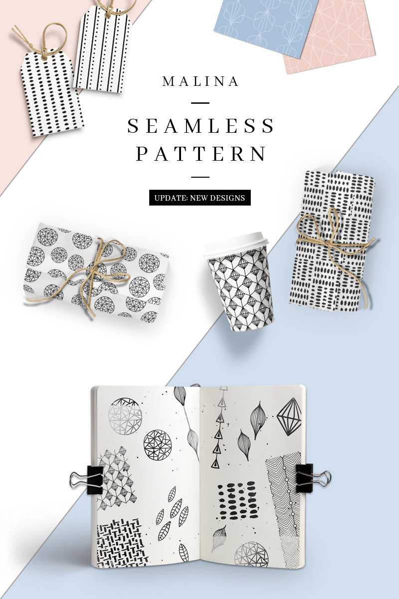 "Pattern namens ""MALINA 36 Seamless"" #76761"