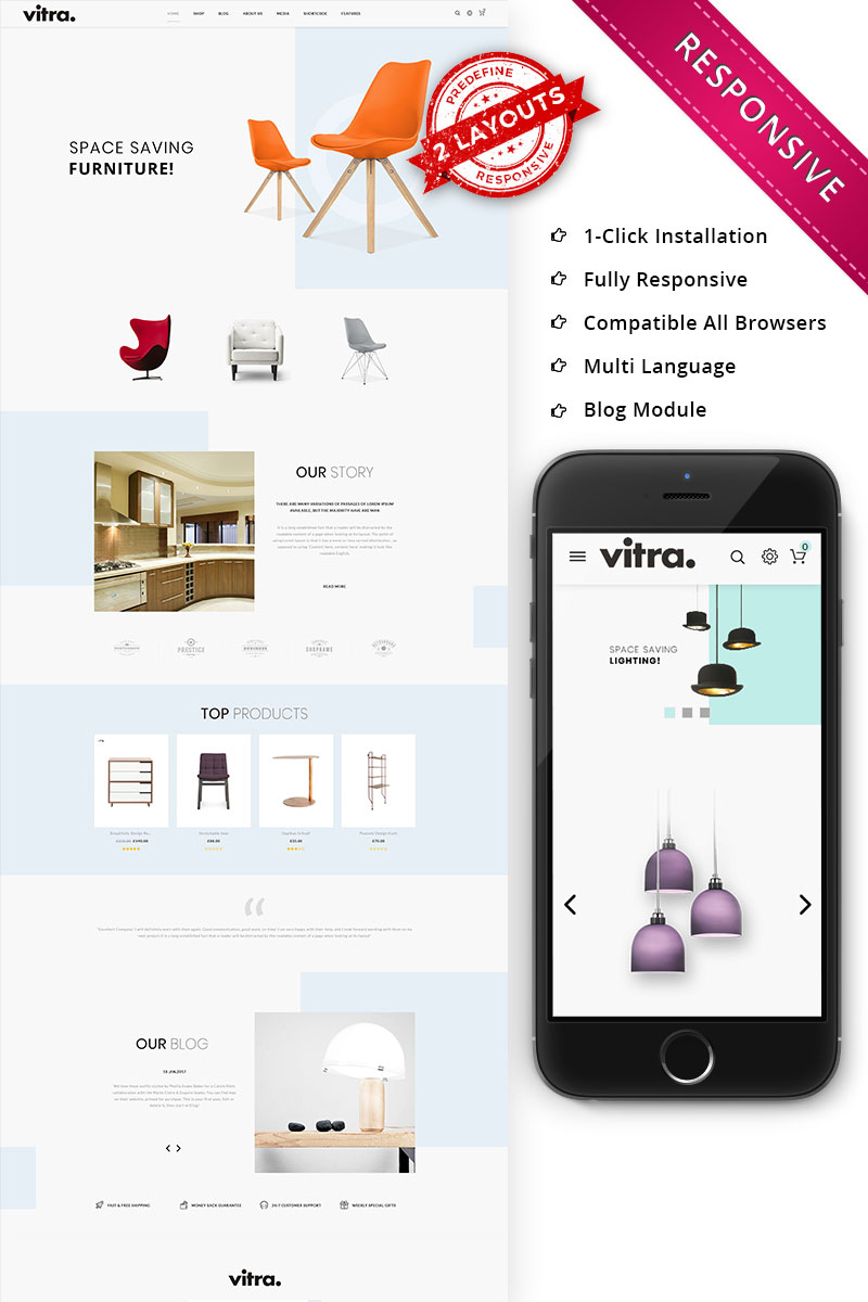 Vitra - The Multipurpose Responsive WooCommerce Theme - screenshot
