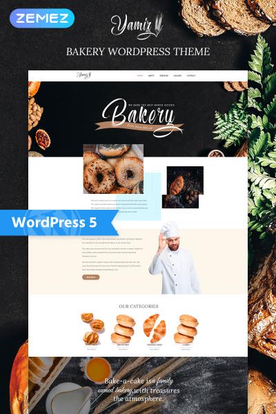Адаптивный WordPress шаблон №76771 на тему хлебобулочные изделия