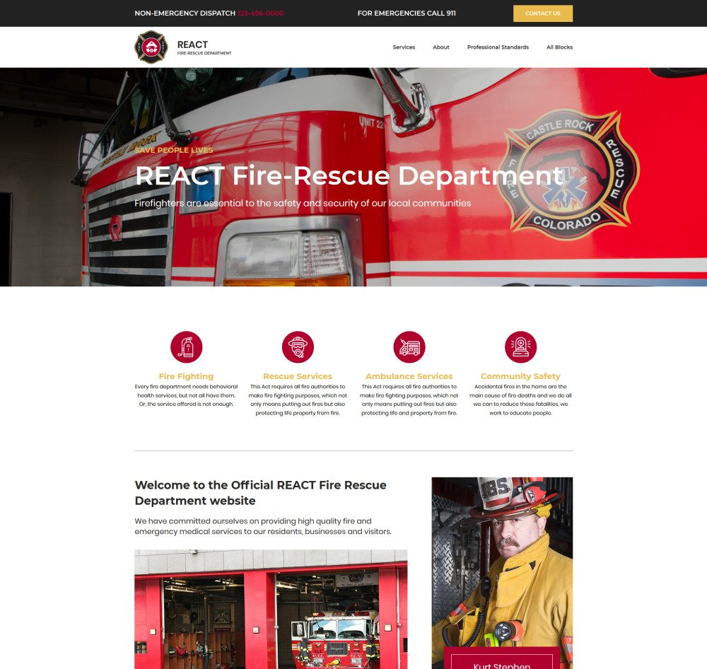 Security Landing Page Template | Website Templates