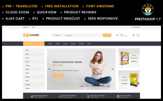 Naomi - Book Store PrestaShop Theme