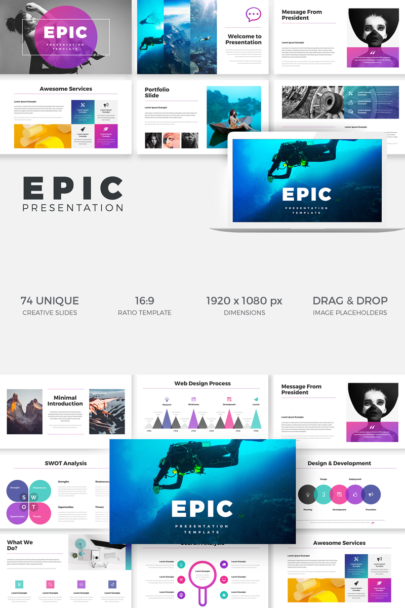 Epic - PowerPoint Template - screenshot