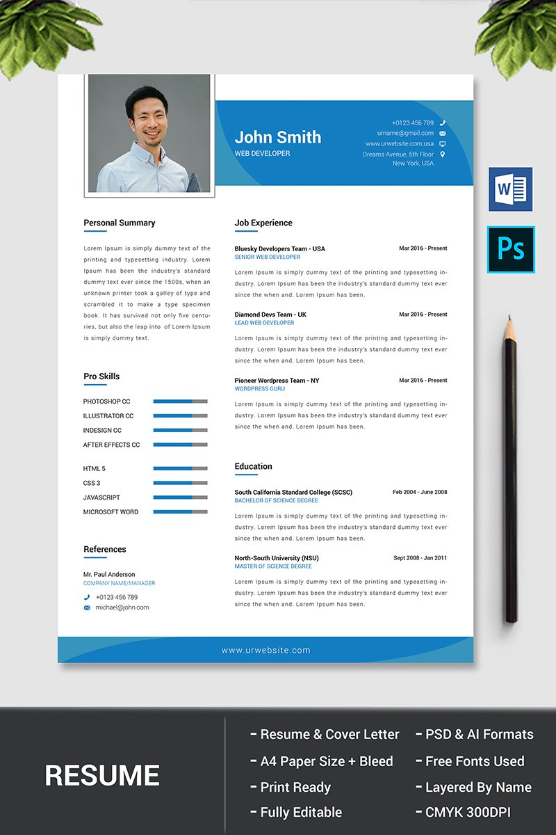 john smith resume template  76828