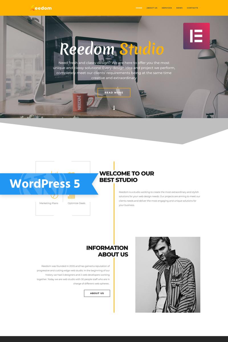 Reedom - Web Design Studio Multipurpose Minimal Elementor Tema WordPress №76837 - screenshot