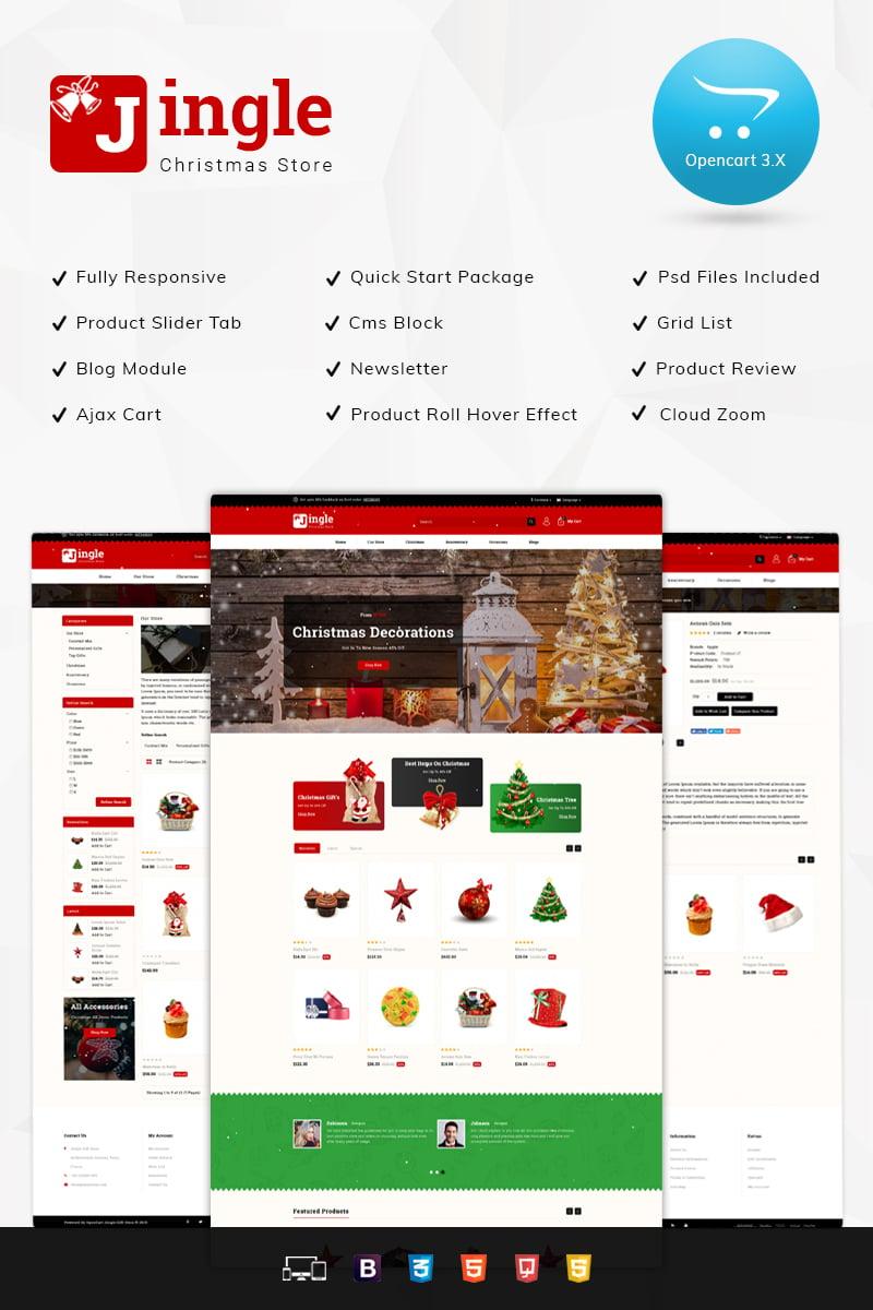 Responsivt Jingle Gift Store 3.x OpenCart-mall #76844