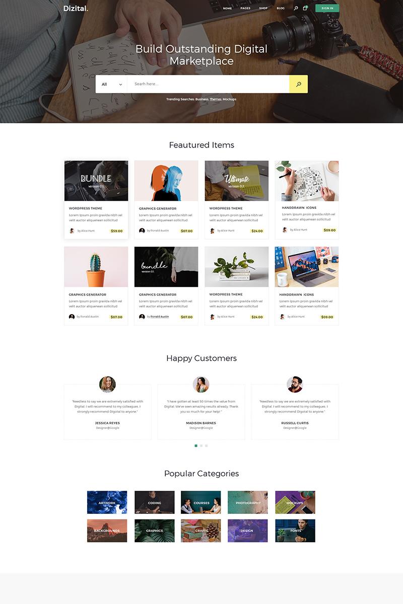 Responsywny motyw WordPress Dizital - Easy Digital Downloads #76868
