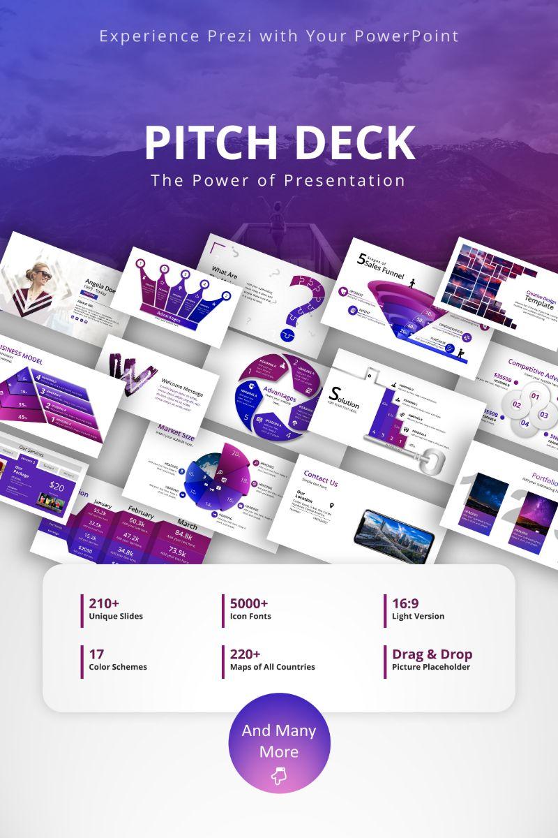 Responsywny szablon PowerPoint Pitch Deck #76864 - zrzut ekranu