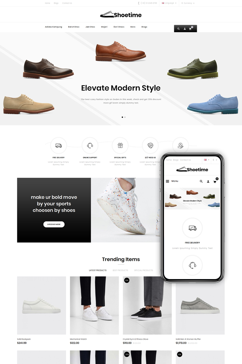 Shoetime - Shoes Store №76852 - скриншот