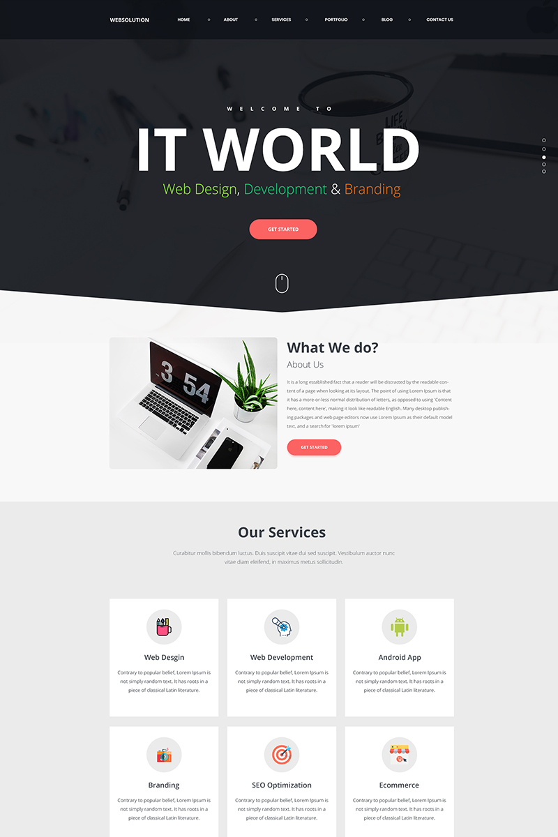 Web Solution Landing Page Template