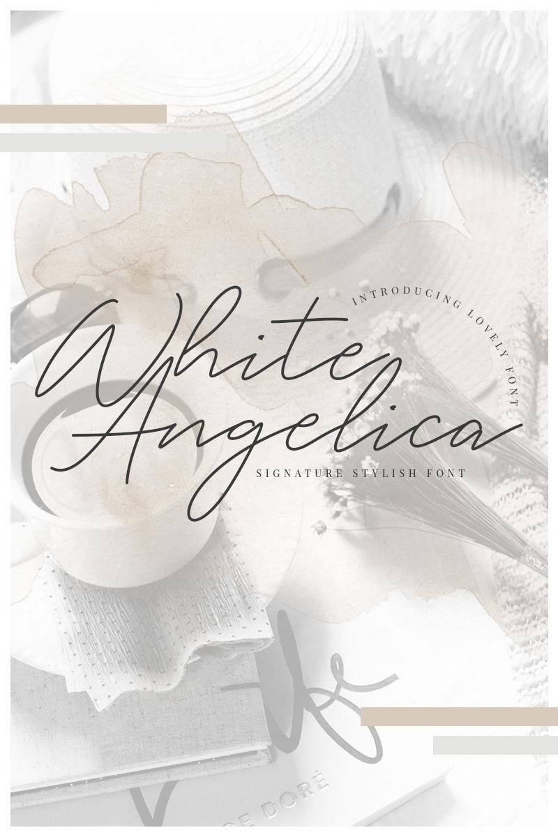 White Angelica Signature Font - screenshot