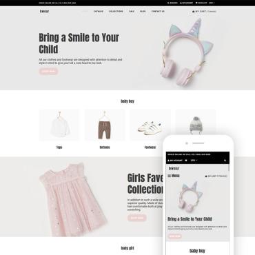 Купить  пофессиональные Shopify шаблоны. Купить шаблон #76913 и создать сайт.