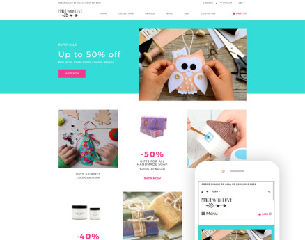 Made with Love - Hobbies & Crafts Creative Shopify Theme