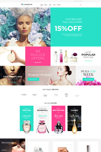 Mode & skönhet Responsivt MotoCMS Ecommerce-mall