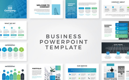 Clean Business Presentation PowerPoint Template