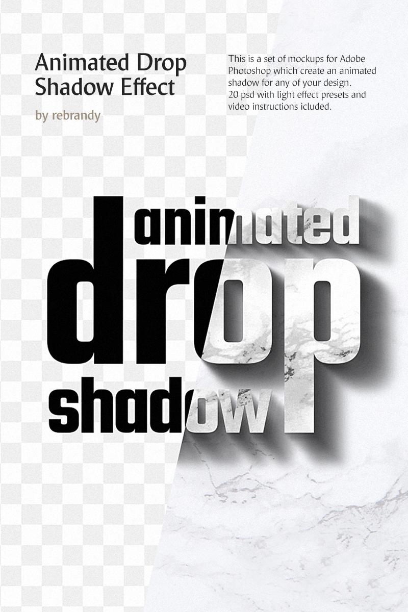 Animated Drop Shadow Effect Product Mockup #76911